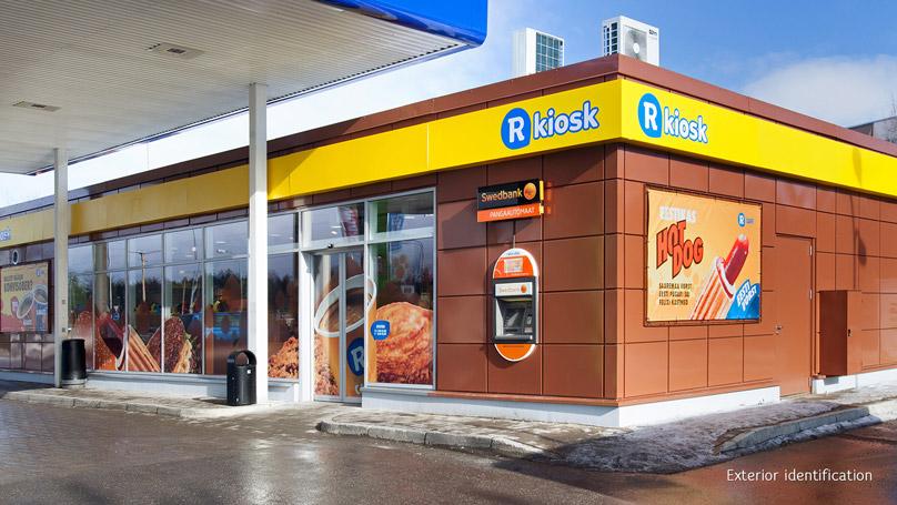 R-kiosk shop facade