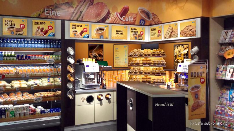 R-kiosk R cafe sub-brand area