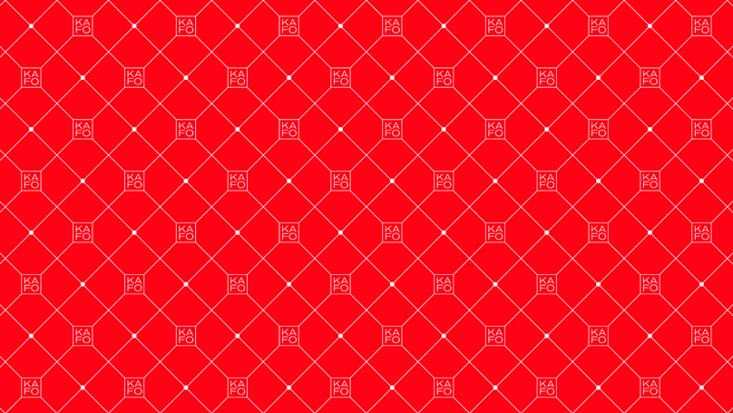 KAFO pattern on a red background