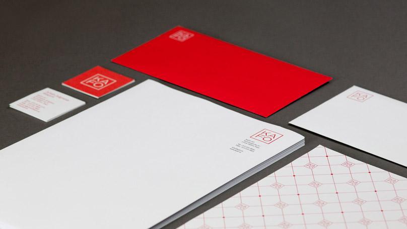 KAFO A4 letterheads, envelope, businesscard etc.